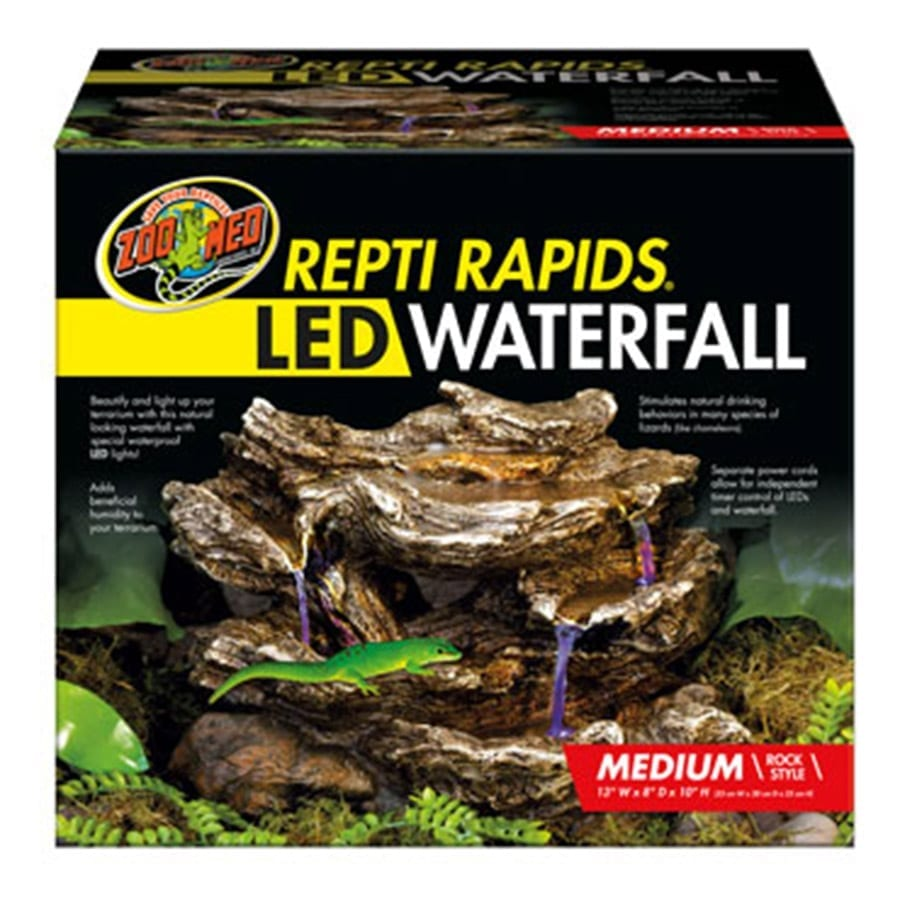 Zoo Med ReptiRap.LED Waterfall Med Rock RR-23