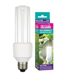 AR Compact D3 Reptile Lamp, 23W 7%