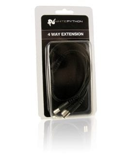 White Python LED 4-Way Extension Cable