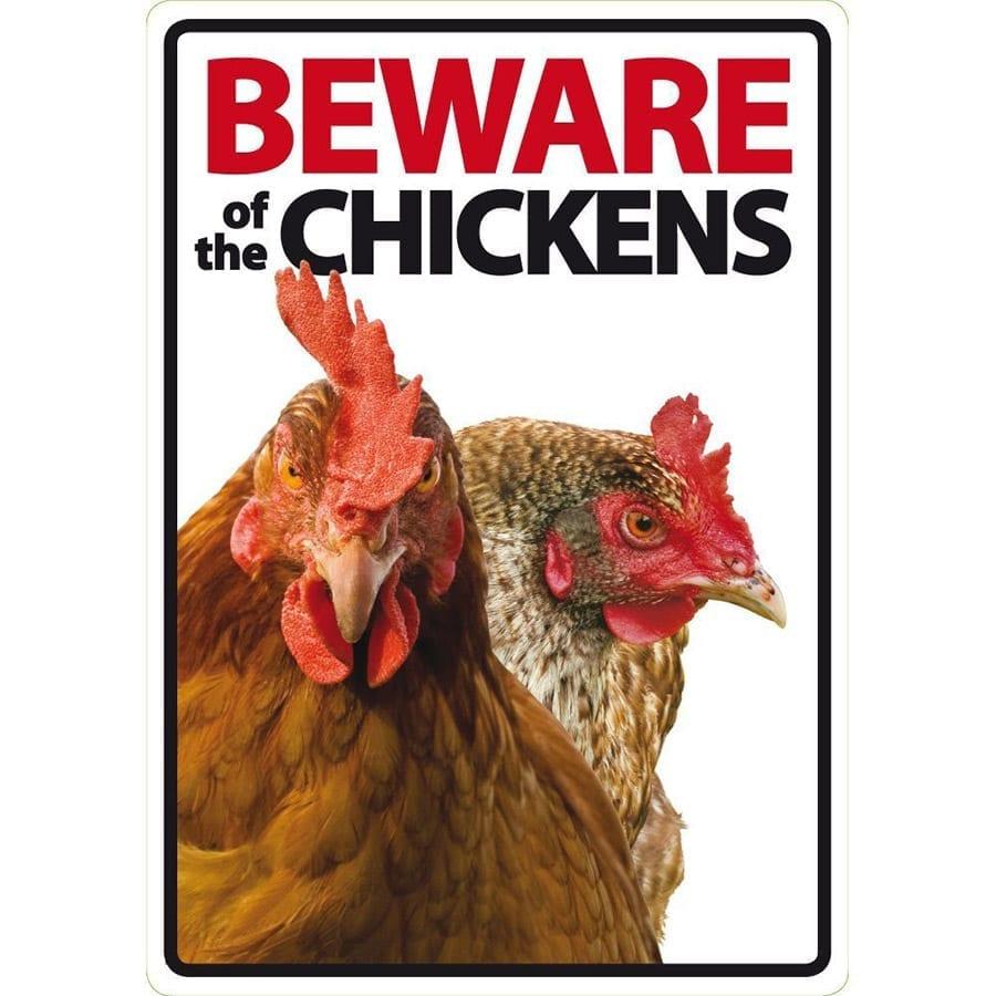 Beware Sign: Chickens