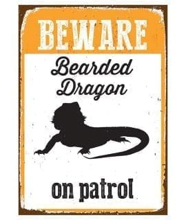 Beware Sign Beardy 'Tin' NMS400