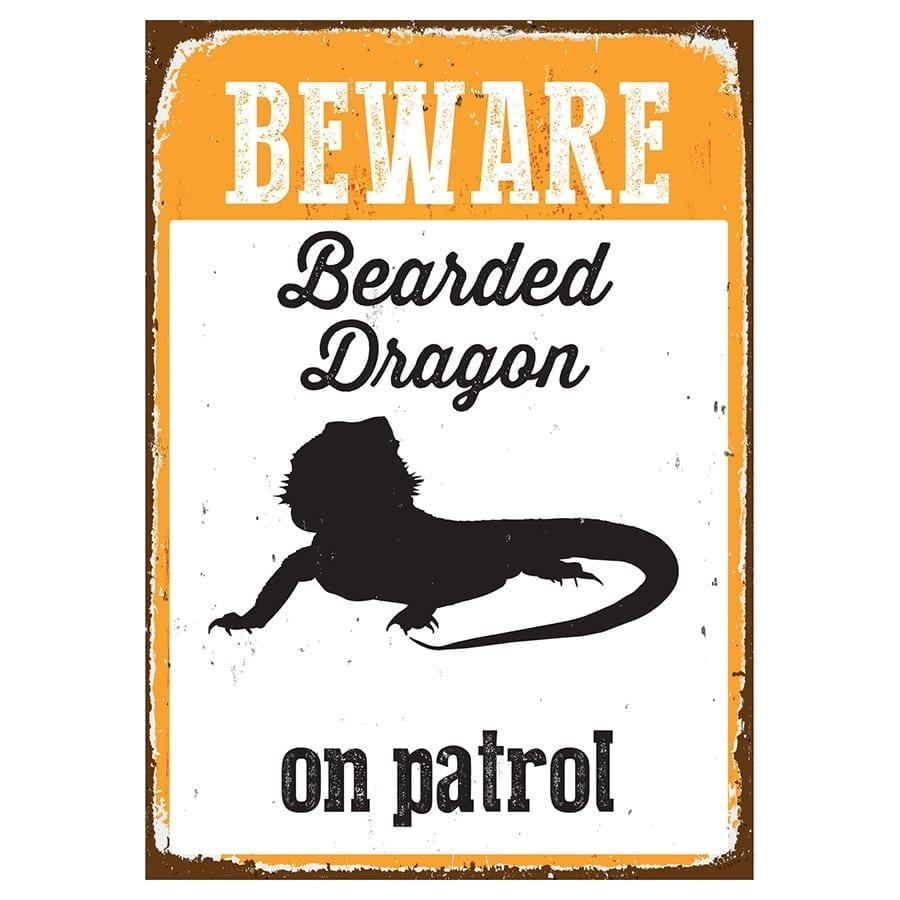 Beware Sign Beardy 'Tin' NMS400