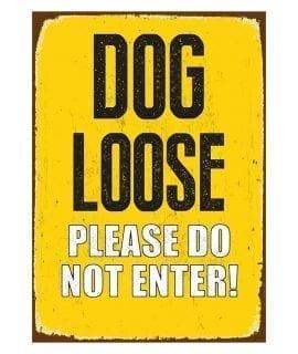 Beware Sign Dog Loose 'Tin' NMS430