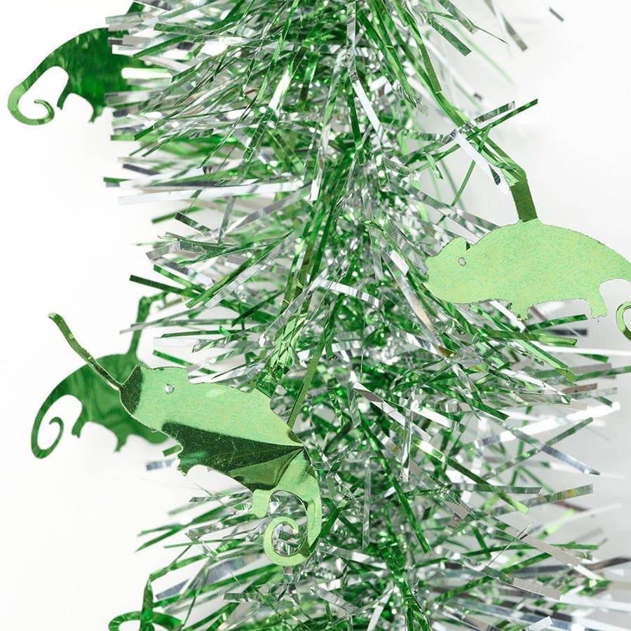 Tinsel Chameleon 2m silver/green chams