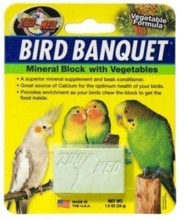 ZM Bird Banquet Veg Mineral Block SMALL, BB-VSE