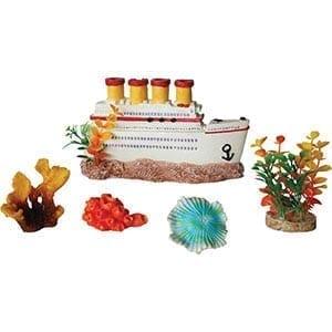 AQ 5 Piece Decorative Aquarium Box Set