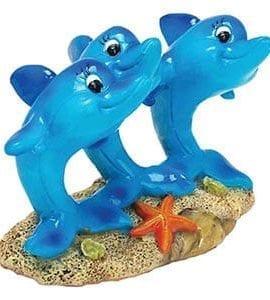 AQ Dolphins on Rock 10.5 x 5.5 x 7cm AQ61638