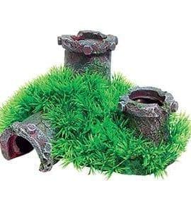 AQ Pipe with Grass 19 x 16.5 x 10 AQ62332