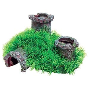 AQ Pipe with Grass 19 x 16.5 x 10 AQ62332