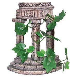 AQ Rustic Columns with Plants 16x8x19.5cm 68031