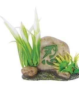 AQ Stone with Plants 10 x 5 x 10cm AQ96268