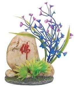 AQ Stone with Plants 11 x 5 x 14cm AQ96273