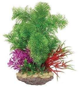 AQ Sucker Mount Plant & Rock Base 10x23cm AQ19289
