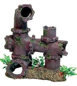 AQ Sunken Pipework & Plants 21x12.5x23.5cm AQ7098