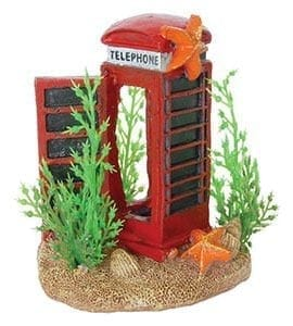 AQ Telephone Box with Plants 7 x 5.5 x 8cm AQ61938