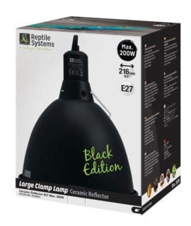 Reptile Systems Clamp Lamp Black Edition Large