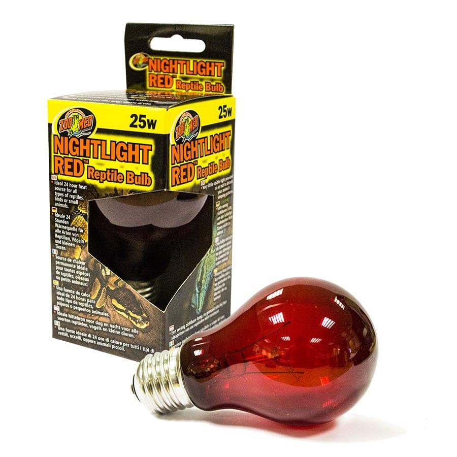 Zoo Med Nightlight Red Reptile Bulb 25WNR 25