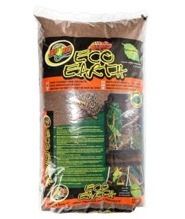 Eco Earth® Coconut Fiber Substrate is an eco-friendly product made from the husks of coconuts and can be safely composted or recycled into potted plants or gardens. Ideal for naturalistic terrarium type set-ups incorporating reptiles, amphibians, or invertebrates. Use it damp for tropical species as it naturally absorbs and breaks down odor and waste products. Available in loose and compressed brick. Add Eco Earth® Coconut Fiber Substrate on top of Zoo Med's HydroBalls® to create an ideal drainage layer for optimum plant growth, humidity, and drainage in naturalistic terrariums.