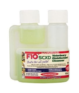 F10 SCXD Veterinary Disinfectant/Cleanser 100ml